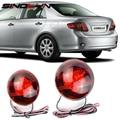 Personalizado Aftermarket Lente LEVOU Luzes Da Cauda Para 2007-2010 Toyota Corolla/Korolla Bumper Daytime Running Luz Traseira de Freio lâmpadas Vermelho