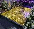 60 см X 60 см роскошный блестящий кристалл LED свадебное зеркало ковер проходной бегун для вечеринки Т-станция сценические украшения Новое пост...