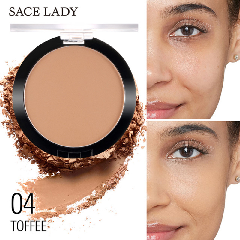 SACE LADY Matt Pressed Face Powder Foundation Lightweight Natural Lasting Oil-control Compact Cosmetic Loose Powder Makeup TSLM1 image