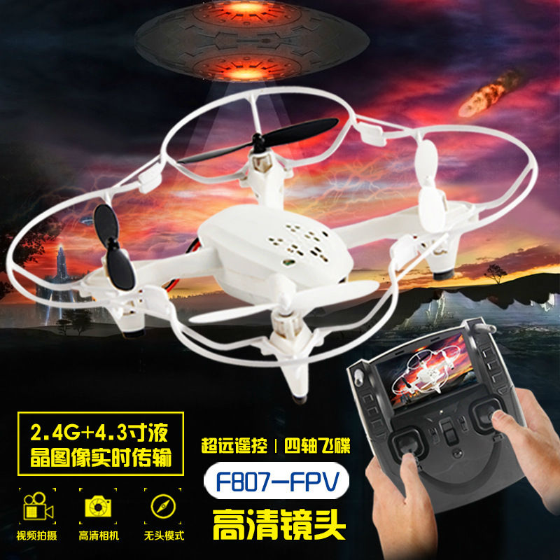 RC drone Quadcopter F807 6-axis Gryo FPV With HD Camera  LCD Transmitter Live Video Audio Streaming Recording VS X4 H107D банка для сыпучих продуктов rosenberg 1 3 л