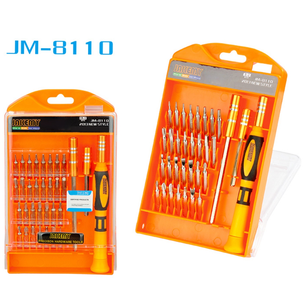JM-8110 33 in 1 Multifunctional Tornavida Seti Cross Slotted Special Torx Screwdriver Set Kit Repairing Tools For Repair Phones