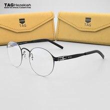 aea5f84253 Montura de gafas redondas montura de mujer gafas de grado Etiqueta de  hombre marca miopía gafas ópticas de ordenador marco caja .