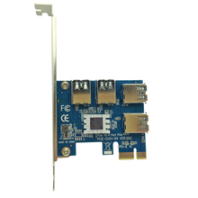PCIe 1 a 4 ranuras PCI express 16X PCI-E 1X Tarjeta Vertical Externa 4 ranura PCI-e Adaptador PCIe Tarjeta Multiplicador de Puertos para BTC minero