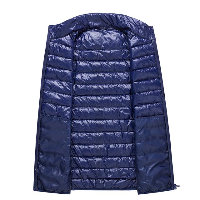 Autumn waistcoat for men Ultra Light Down Vest Duck Down Vests Sleeveless Feather Jacket Winter Warm Men Outwear Plus Size 987
