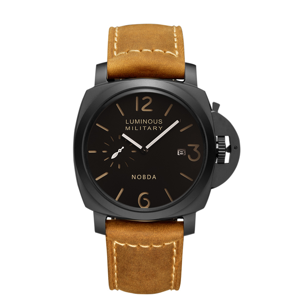 Mens Watches Top Brand Luxury Leather Strap Sports Brown Army Military Quartz Watch Men Wristwatches Clock Men relogio masculino new listing bellmers brand high grade watches leather strap men waterproof quartz watch relogio masculino sports wristwatches