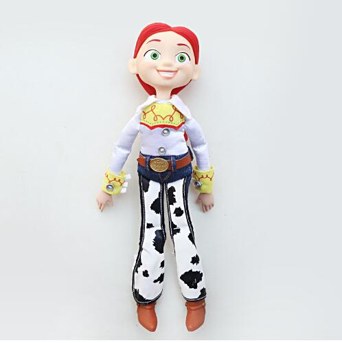 35cm Toy Story 3 Jessie Woody PVC Action Toy Figure PP Cotton Plush Doll Stuffed Soft Toys For Children Christmas Gift world of warcraft wow pvc action figure display toy doll dwarven king magni bronzebeard