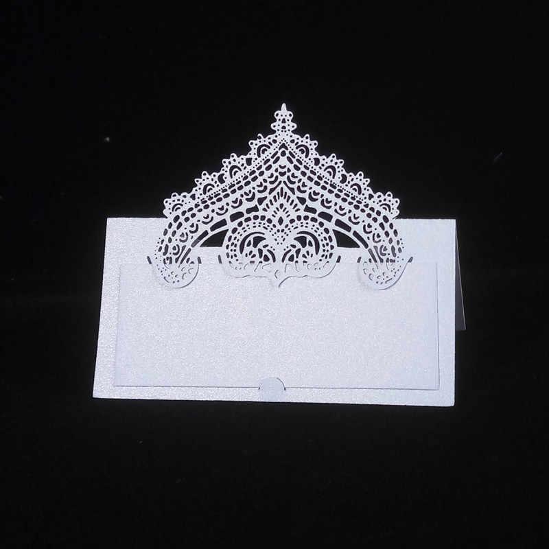 100 pçs grande ouvido amor noiva e noivo corte a laser cartões de lugar cartões de nome de casamento cartões de nome de convidado lugar cartão de mesa de casamento decoração 5z