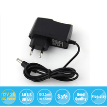AC 100-240V to DC 12V 1A Switch Switching Power Supply Converter Adapter EU US 5.5mm*2.5mm Plug Free Shipping