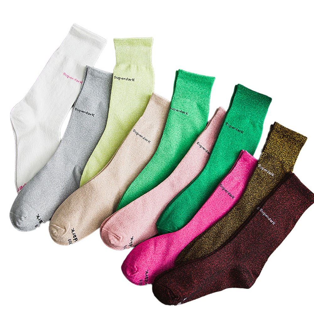 Women Men Cotton Socks Winter Autumn Letter Leg High Individually Wrapped Fashion Lovers Heap Socks Sliver Sport Casual