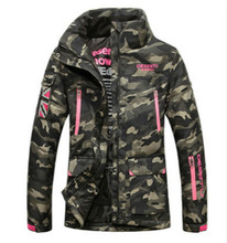 Winter outdoor sports men's and women's camouflage cotton clothing warm waterproof breathable emergency mountaineering wear