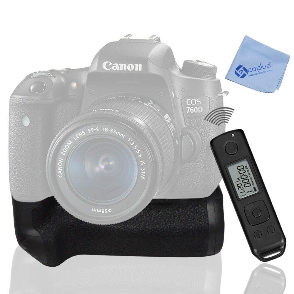 Meike MK-760D intégré 2.4G LCD affichage sans fil télécommande Pro batterie Grip pour Canon 750D 760D rebelle T6i T6s comme BG-E18