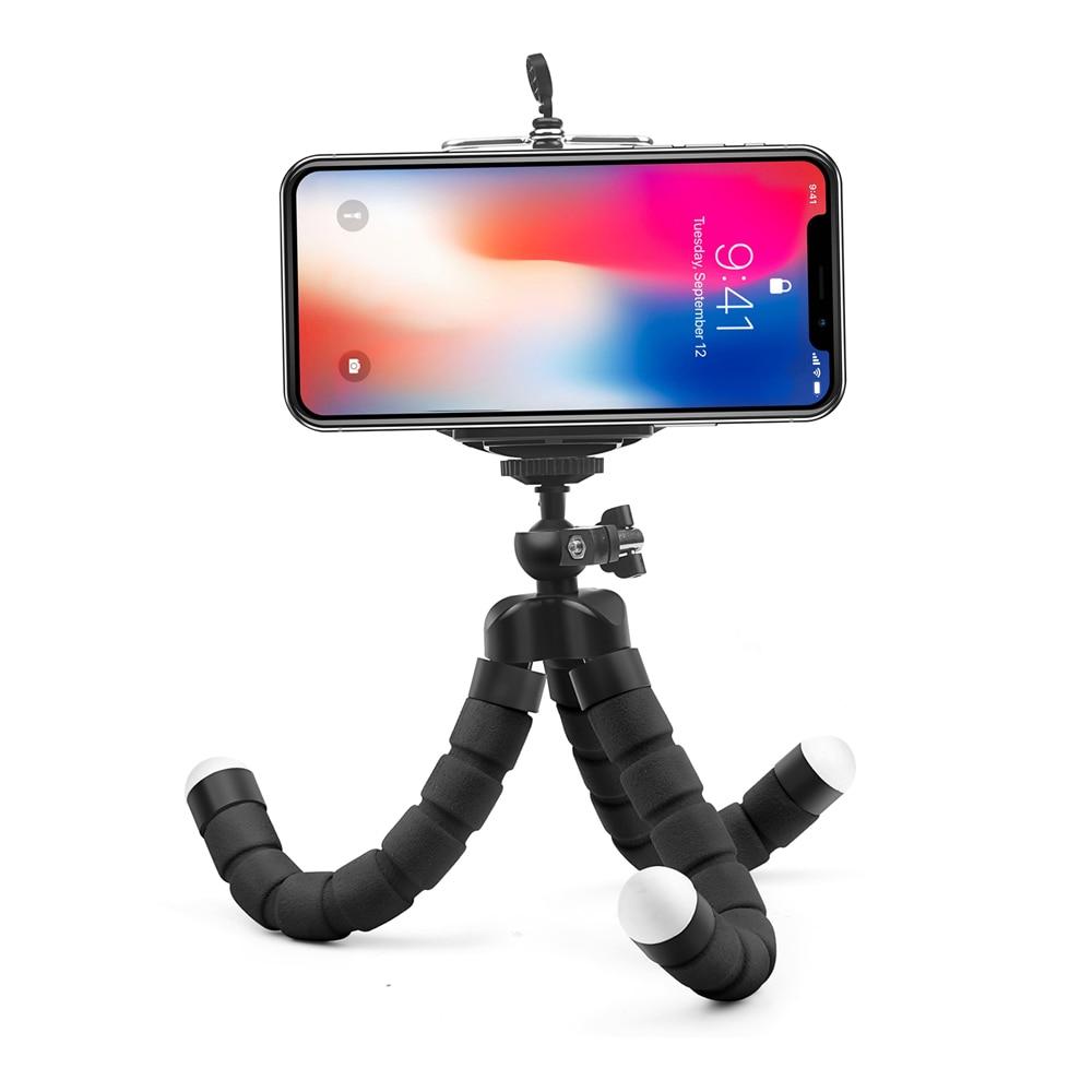 SHOOT Mini Flexible Sponge Octopus Tripod for iPhone Samsung Xiaomi Huawei Mobile Phone Smartphone Tripod for Gopro 9 8 7 Camera 2