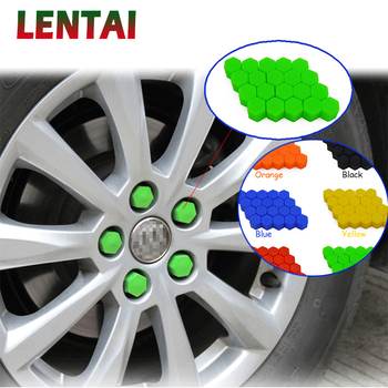 LENTAI 20Pcs Car Silicone Wheel Hub Screw Cover Cap For Mercedes Benz W203 W204 W211 Volvo S60 XC90 XC60 S80 Subaru Forester XV image
