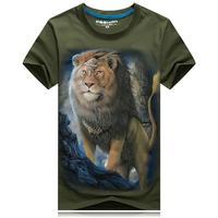 ZEESHANT 2018 Mode Man T-Shirt Crop Tops 3D Leeuw Ontwerp T-shirt Vrouw Korte mouwen Cool Tshirt Voor Meisjes Roupa Feminina 6XL