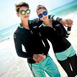 Conjunto de 5 peças feminino rash guard topos e bottoms manga longa zip up nadar surf camisa e leggings proteção solar uv completa masculina
