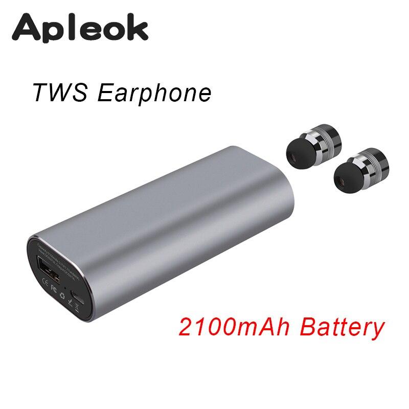 bilder für 2017 neue TWS Mini Bluetooth headset Stereo Musik Kopfhörer eingebautes Mikrofon Kleine Drahtlose Ohrhörer mit 2100 mAh akku aufladen
