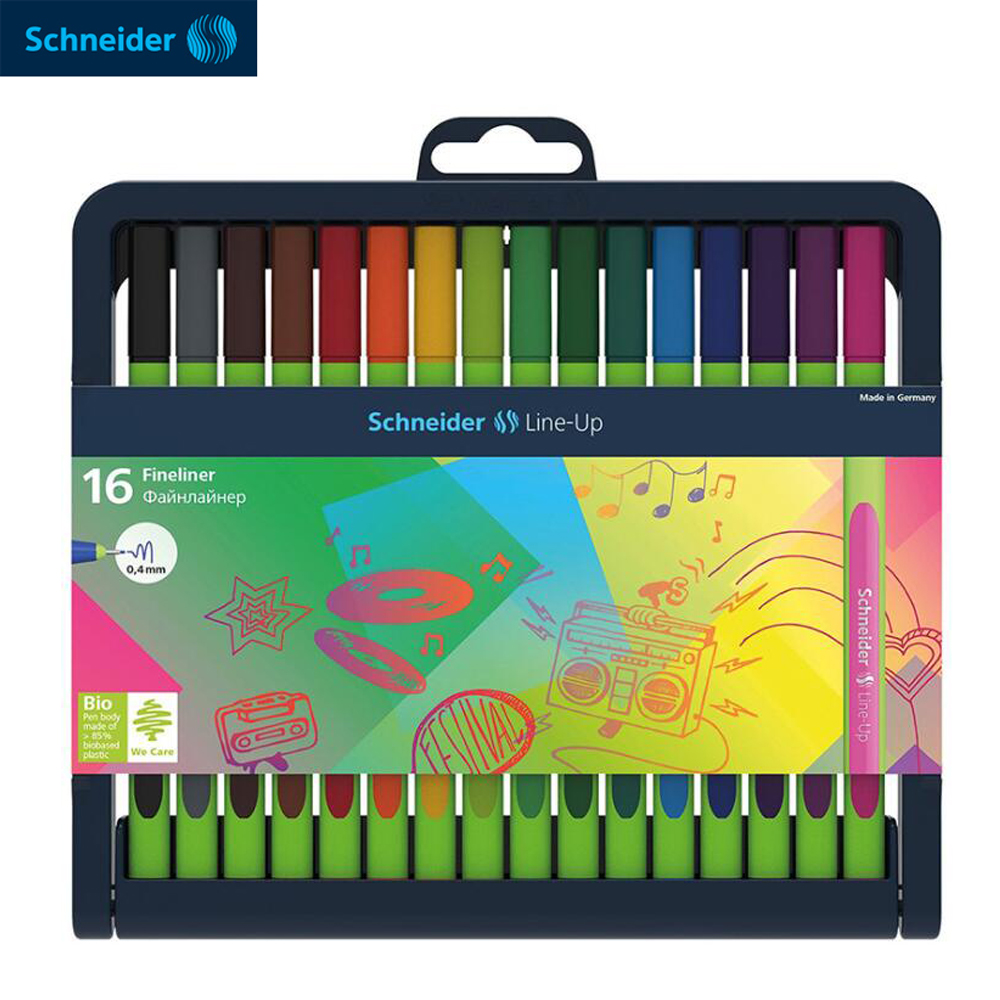SCHNEIDER LINE-UP Micron Liner Pen Set 0.4mm Ultra Fine Fineliner Sketch Marker Pigma Micron Drawing Pen Art Supplies Rotulador genuine 20colors stabilo point 88 micron liner pen sketch marker set 0 4mm ultra fine micron pen draw liners art supplies 8803