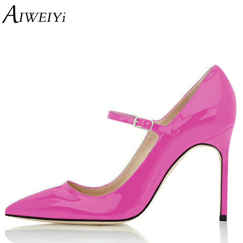 AIWEIYi Brand Shoes Woman High Heels Platform Pumps Stilettos Shoes For Women Black High Heels 10CM Ladies Wedding Shoes aiweiyi women s pumps shoes 100