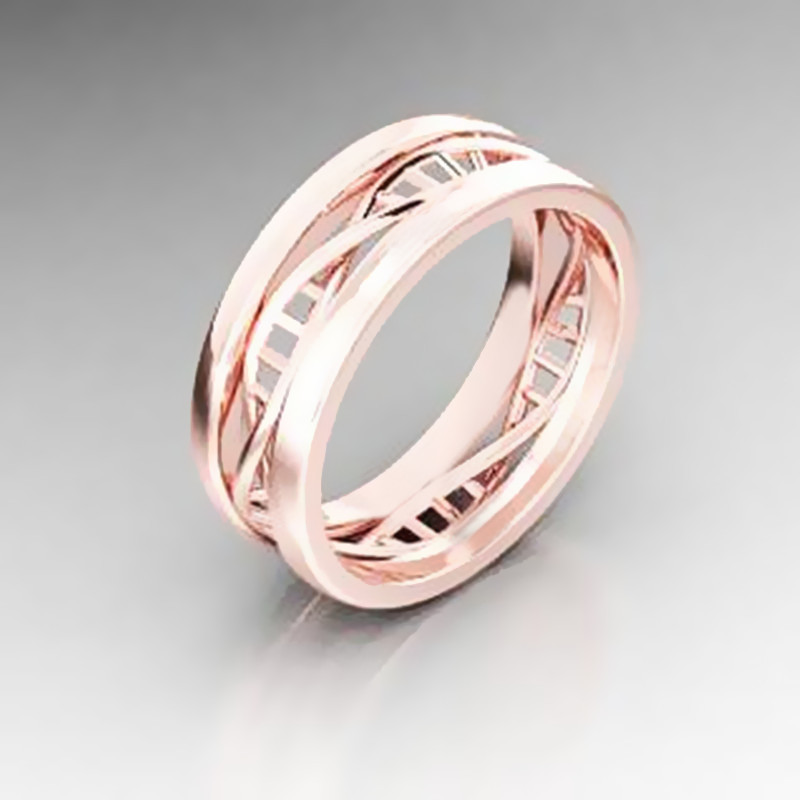 Dropshipping DNA Wedding Geek Ring Microbiology Science Helix Biology Rings Fashion Jewellry For Him Or Her loversgift
