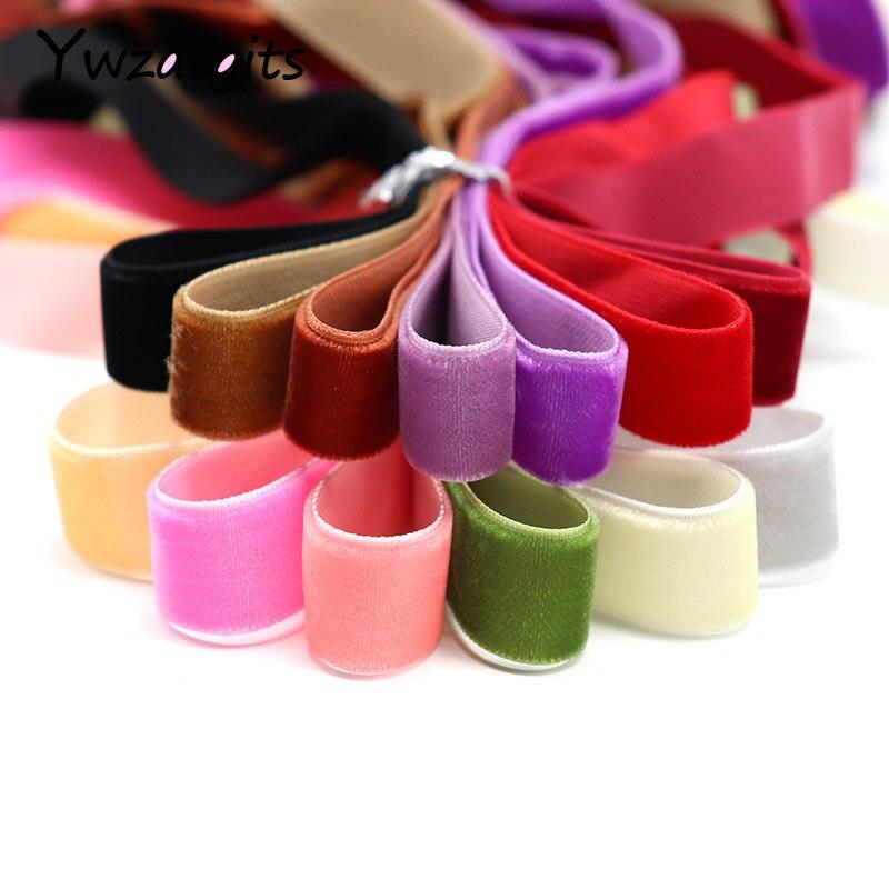 Ywzatgits 3 ярдов/партия 15-16 мм многоцветные бархатные ленты Отделка Ткань для шитья и рукоделия ручной работы украшения аксессуары 040003007