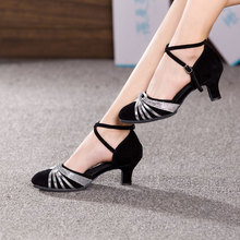 """נשים גבירותיי סלוניים מודרני ריקוד נעלי סגור הבוהן מקורה נעלי ריקוד טנגו סלסה ביצועים עקבים 3.5/5.5/7 ס""""מ"""
