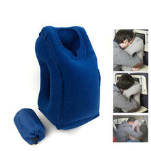 Outdoor Inflatable Pillows Soft Cushion Portable Travel Pillow on Airplane Innovative Body Back Support Foldable Neck Pillow(China)