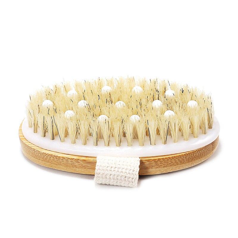 Hand Grip SPA Bath Wooden Brush Exfoliating Bath & Shower Skin Care Body Scrub Bristles Brushes Stimulates Blood Circulation