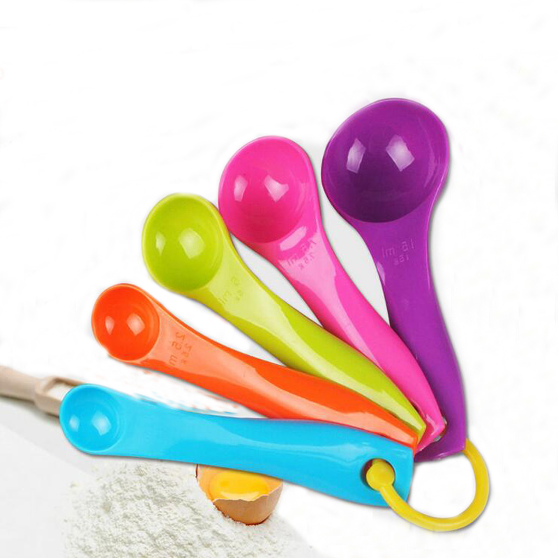 Colorful Plastic Spoons Baking Set Selling Hot Utensil Cup Measuring Colorful