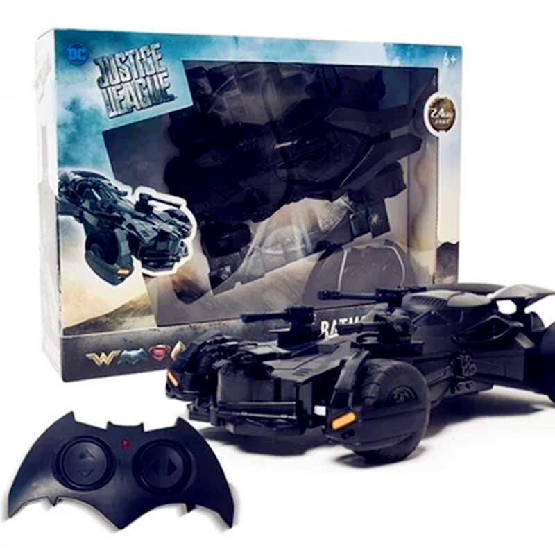 DC Justice League Batman Telecar Electrical Power 1:18 RC Batmobile PVC Action Figure Collectible Model Toy G32 1 18 scale 1995 batman forever batmobile by hot wheels page 5