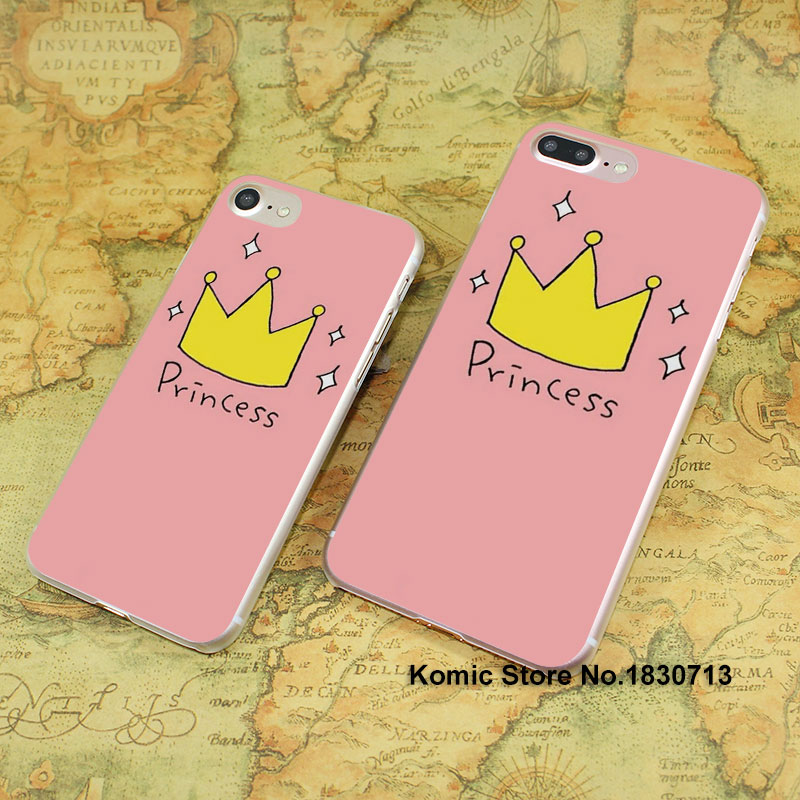 1045e pink Crown Princess Luxury design hard transparent clear Cover Case for Apple font b iPhone