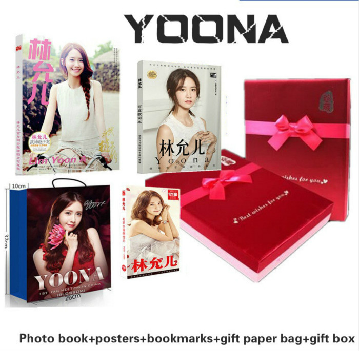 [MYKPOP] génération fille-YOONA: coffret cadeau luxe CD + livre Photo + affiche + signets, Collection Fans KPOP SA19070708
