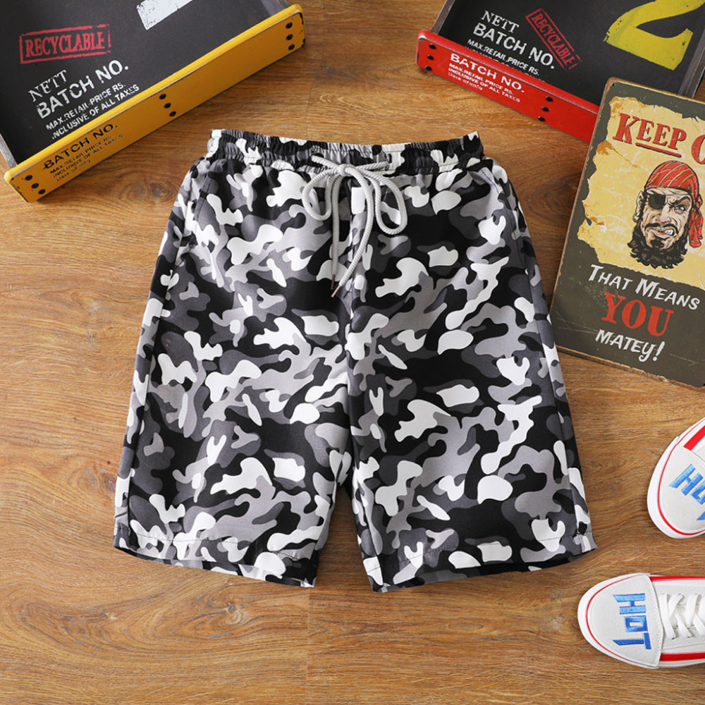 2019 Men's Fashion Summer Casual Shorts Cotton Camouflage Printed Beach Swimshorts Men Modis Sungas De Praia Homens Usa Spartan