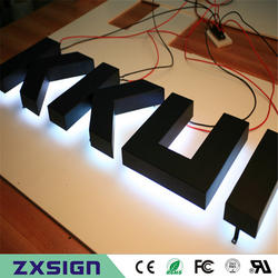 Обувь по заводским ценам нержавеющая сталь светодиодной подсветкой вывесок, Halo Горит СВЕТОДИОД металла канал надписей, с подсветкой led