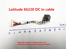 Free Shipping Dc-jack FOR DELL Latitude E6220 DC jack DC-in Cable 6017B0304501  95%New