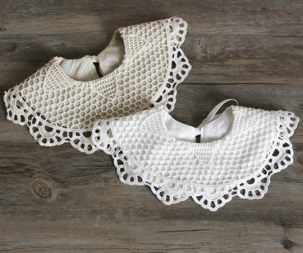 Wholesale 10 PCS Brand New 2018 Baby Girls 100 Cotton Lace Bibs Baby Burp Cloths 0