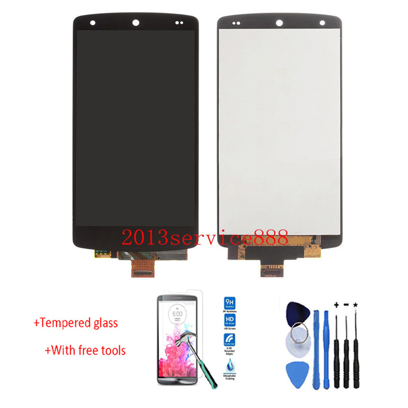 New LCD Display Touch Screen Digitizer Assembly For LG Google Nexus 5 D820 D821 Black Free shipping & Tempered Glass new lcd touch screen digitizer with frame assembly for lg google nexus 5 d820 d821 free shipping