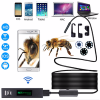 1200P Ultra clear Industrial 10m soft and hard Line Endoscope ios Android Wireless wifi phone 8mm Endoscope camera