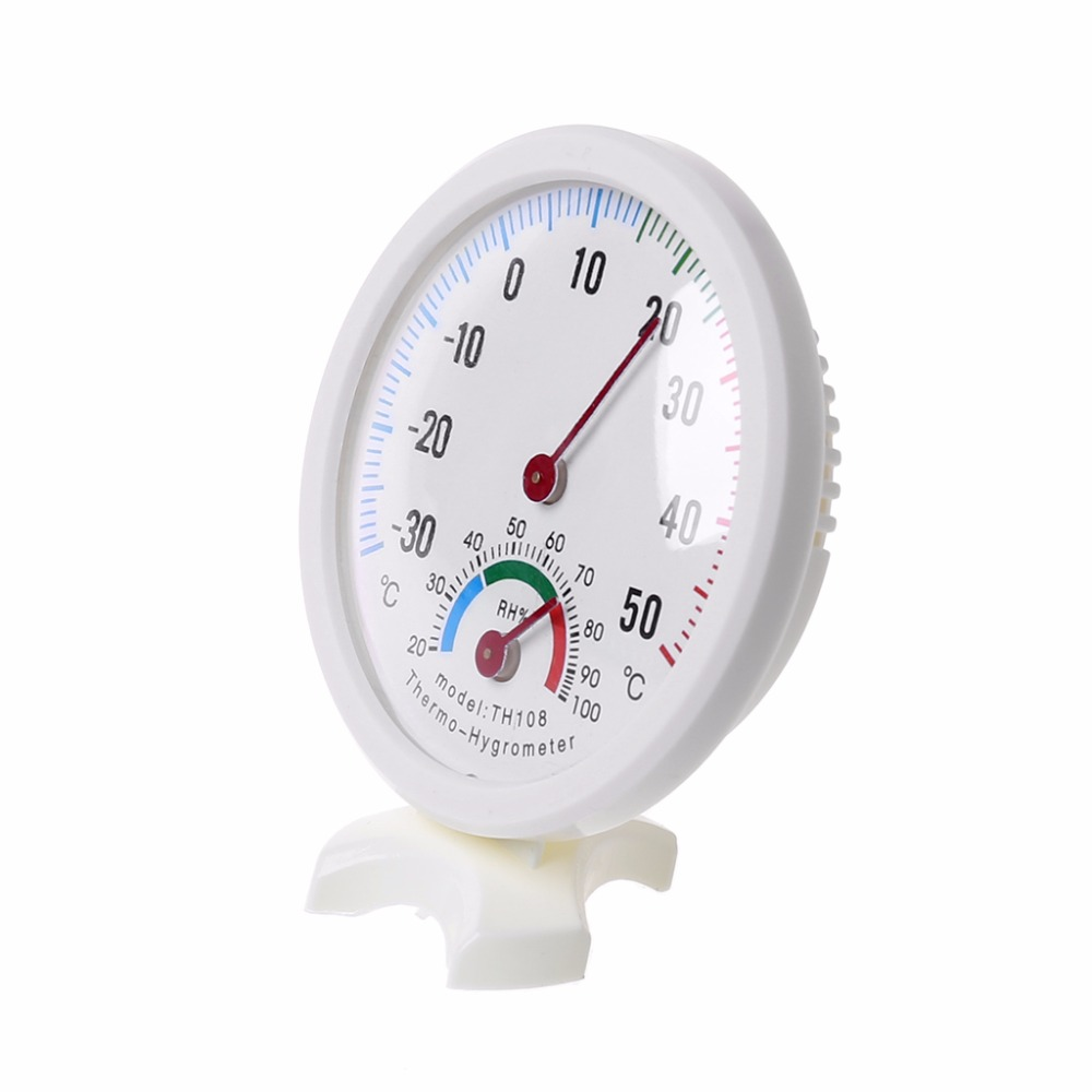 1pcs Wall Thermometer Logger Meter Indoor Outdoor Garden Greenhouse Thermometer Household Merchandises Home & Garden 50~500c Ruler Shaped Clock Temperature