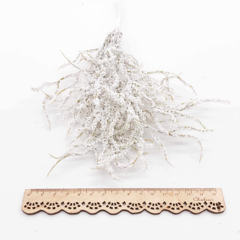 6 Pcs Buatan Putih Rumput Tanaman Bunga Buatan untuk Dekorasi Natal Pernikahan Diy Scrapbooking Bunga Palsu Bunga