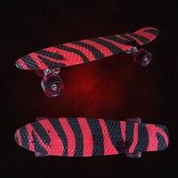 Mini Cruiser Skateboard 22 Banana Skate Board Longboard The Deck And Wheels ABEC 9 Skate Board