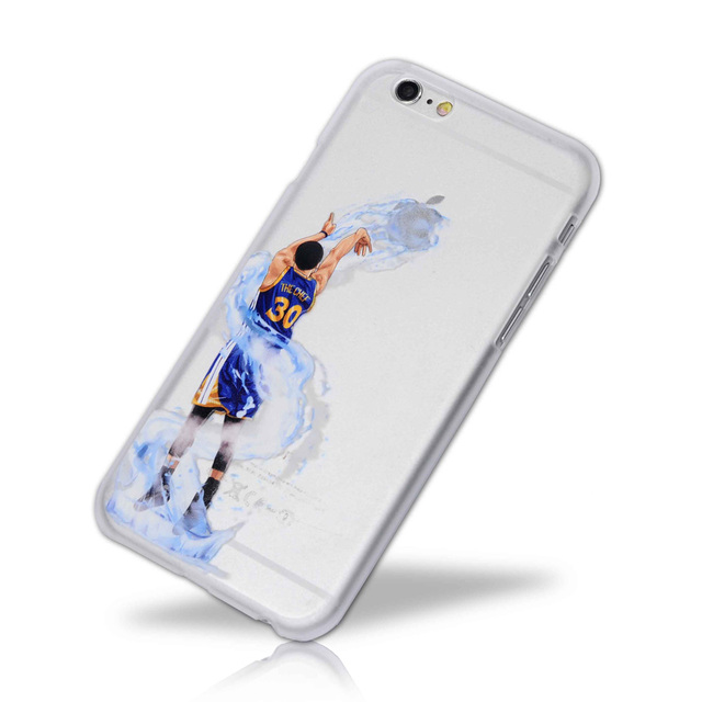 on sale c7622 9ea6f US $4.98 |basketball Player Star Phone Cases for iphone cover quality  Stephen Curry skin plastic shell for iphone 5 5s se 6 6s 7 7 8 plus -in  Fitted ...