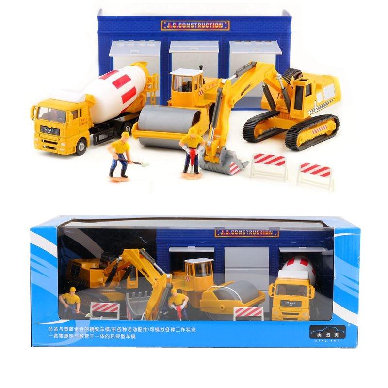 1 шт. 1: 60 экскаватор JOYCITY, транспортная техника, грузовик, автомобиль, сплав, модель автомобиля, детские игрушки для мальчиков