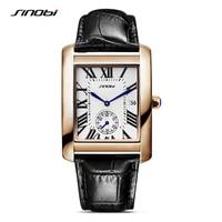 SINOBI 2016 Luxury Brand Women Watches Leather Wristband Rose Gold Bracelet Fashion Watch 2016 Ladies Quartz