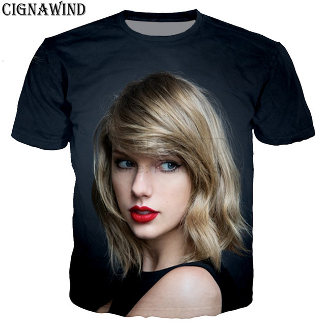 b9e919e3106 New summer tops Popular hip hop singer Taylor t shirt men women 3D print t-shirts  unisex Harajuku style tshirt streetwear