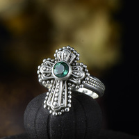 Guaranteed Ring Silver 925 Rings Cross Designer Jewelry Luxury Women Accessories Natural Crystal Fine Jewellery Bijoux