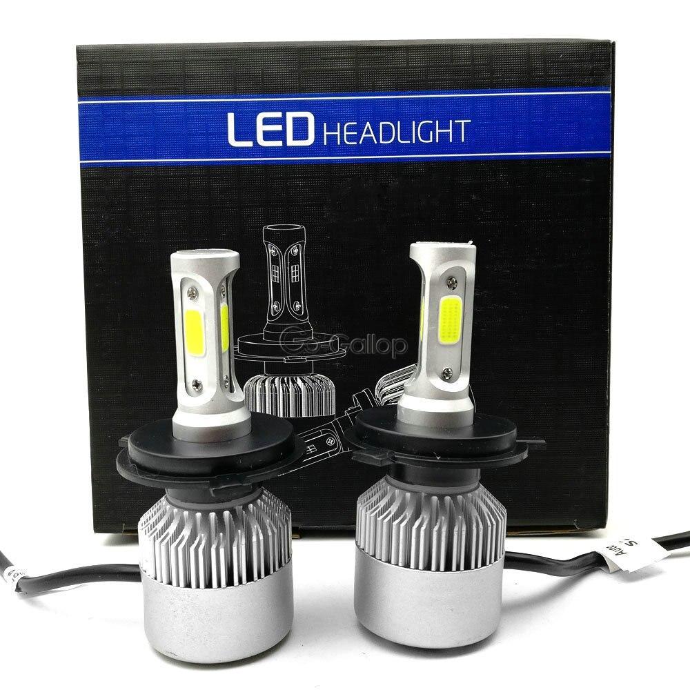 Автомобильные светодиодные лампы H4 9003 HB2, 72 Вт, 6500 лм