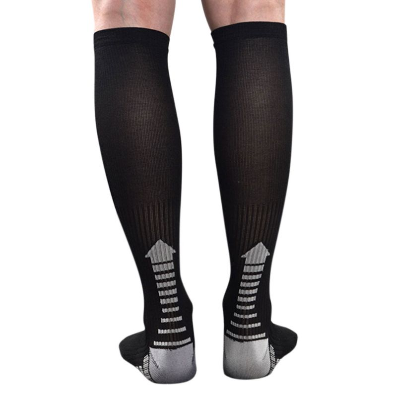Men Leg Support Stretch Outdoor Sport Long Socks Knee High Stockings Compression Running Cycling Climbing Breathable Deodorant