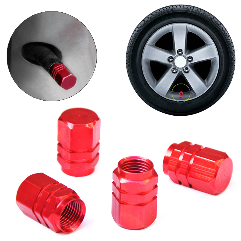 4pcs/ Set Aluminum Car Wheel Tires Valves Caps Theftproof Tyre Stem Air Airtight Covers Car Styling
