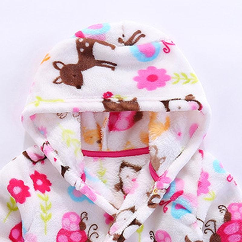 Kinderbadjas Flanellen badjas Kinderkleding na het slapen en - Kinderkleding - Foto 4