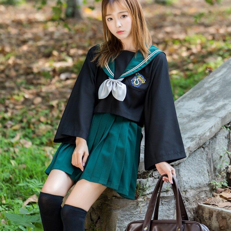 Harri Around Potter College Wind Cos Japanese School Cloth Set Uniform Anime Jk Sailor Suit College